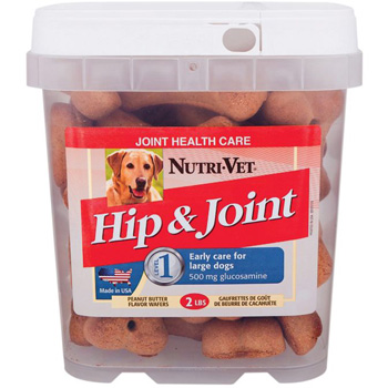 Hip & Joint Glucosamine Peanut Butter Biscuits for Large Dogs 6 lb