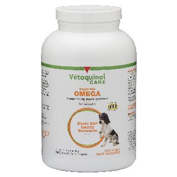 Vetoquinol Care Triglceride Omega-3 Fatty Acid Supplement for Large Dogs, 250 count