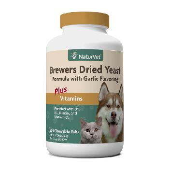 NaturVet Brewer's Dried Yeast With Garlic Plus Vitamins for Dogs and Cats, Chewable Tablets, 500 count