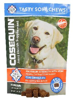Cosequin Maximum Strength Soft Chews with MSM Plus Omega3s, 150 count