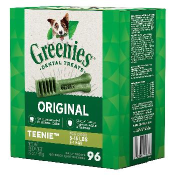Greenies Original Teenie Dog Dental Treats, 27 ounces, 96 count