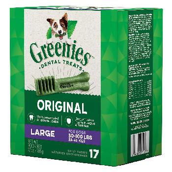 Greenies Original Large Dog Dental Treats, 27 ounces, 17 count