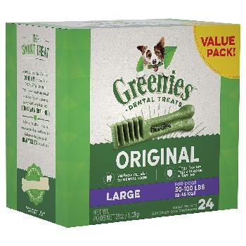 Greenies Original Large Dog Dental Treats, 36 ounces, 24 count
