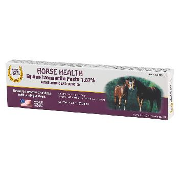 Horse Health Equine Ivermectin Paste 1.87%, Anthelmintic and Boticide, .21 ounces