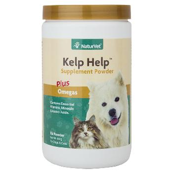 NaturVet Kelp Help Powder Plus Omegas for Dogs and Cats, 1 pound