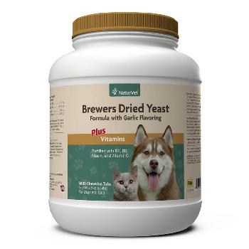 NaturVet Brewer's Dried Yeast With Garlic Plus Vitamins Chewable Tablets for Dogs and Cats, 5000 count