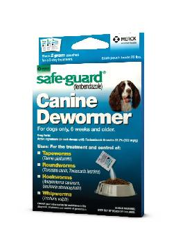 Safe Guard Canine Dewormer 2g X 3 Dose
