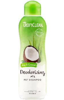 TropiClean Aloe and Coconut Pet Shampoo, Deodorizing, 20 ounces
