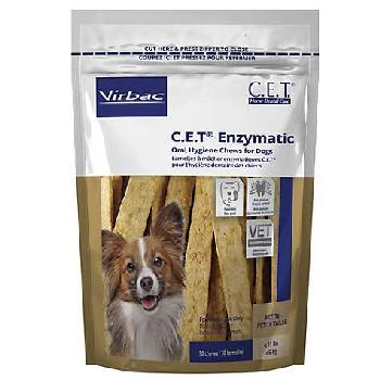 C.E.T. Enzymatic Oral Hygiene Chews for Small Dogs, up to 11 pounds, 30 count