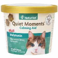 NaturVet® Quiet Moments Calming Aid Plus Melatonin for Cats Soft Chews 60 ct