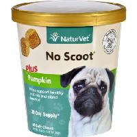 NaturVet No Scoot Soft Chew Plus Pumpkin for Dogs, 60 count