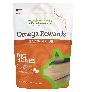 Petality Omega Rewards Bacon and Pumpkin for Dogs, 32oz