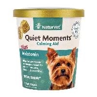 NaturVet Quiet Moments Dog Soft Chews Plus Melatonin, 70 count