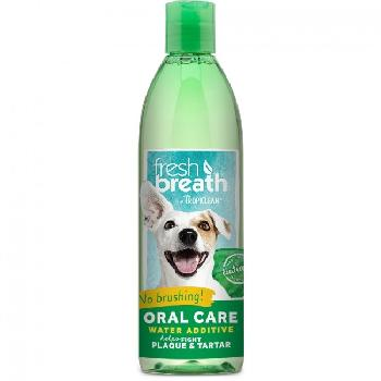 TropiClean Fresh Breath Oral Care Water Additive for Dogs, 16 ounces