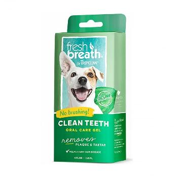TropiClean Fresh Breath Clean Teeth Oral Care Gel, Plaque and Tartar Remover, 4 ounces